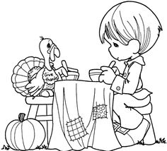 Thanksgiving Coloring Pages Precious Moments Coloring Pages