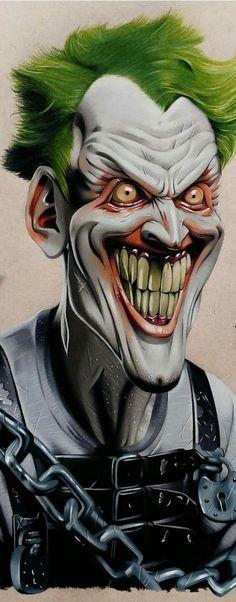 The Joker by Borja Burgueño Moreno Comic Book Characters, Comic Books Art, Comic Art, Fanart, Jocker Batman, Joker Kunst, Joker Drawings, Joker Sketch, Creepy Drawings