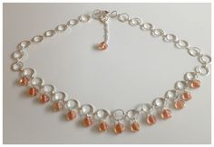 Silver and pink glass bead necklace coming soon to WRG.