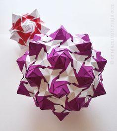 Rose Unit Kusudama | Origami Tutorials