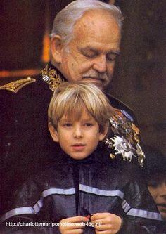 HSH Prince Rainier of Monaco with grandson Andrea albert grace Casiraghi.