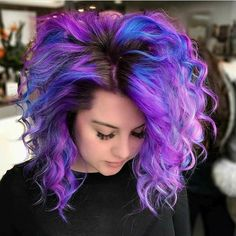 New hair color purple bob 66 Ideas Hair Color Purple, Cool Hair Color, Bright Hair Colors, Colorful Hair, Edgy Hair Colors, Galaxy Hair Color, Metallic Hair Color, Bright Purple Hair, Purple Bob