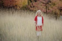 www.frostedproductions.com | #utah #child #photographer #cute #outfit #for #eight #year #old #girl #natural #light #fall #leaves #wheat #field
