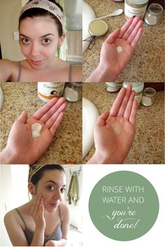Coconut oil face wash