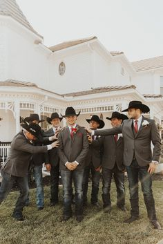 The Farm in Norco Wedding Country Groomsmen Attire, Country Wedding Groomsmen, Country Wedding Photos, Groomsmen Outfits, Country Style Wedding, Cowboy Groomsmen, Cowboy Wedding Attire, Country Groom Attire, Barn Wedding Venue