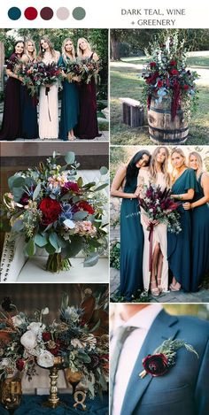 dark teal blue wine and greenery moody fall wedding colors themes lilac Top 14 Fall Wedding Color Combos and Trends for 2020 Wedding Ceremony Ideas, Wedding Themes, Wedding Styles, Wedding Decorations, Dream Wedding, Wedding Day, Wedding Bells, Wedding Summer, Church Wedding