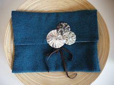pochette en laine et coton par Fee Home, Etsy €35,00