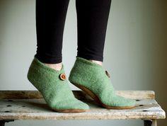 Women Slippers, Wool Felt Shoes, Eco Friendly