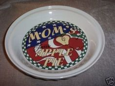 """Fiesta® """"Mom's Apple Pie"""" Pie Plate Homer Laughlin China 10 1/4"""" 