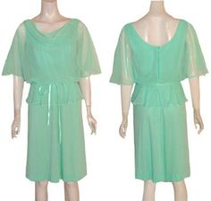 Vintage 1970s Dress Sheer Draping Top | NeldasVintageClothing - Clothing on ArtFire