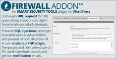 Smart Security Tools: Firewall Addon by GDragoN This is NOT standalone plugin and it can¡¯t be used on its own. This is an addon for Smart Security Tools plugin for WordPress, and it is also available on CodeCanyon here:You need to purchase and install this main plugin first. Do