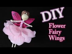 DIY Fairy Wings using Flower Petals by Emilie Lefler- YouTube video 7:04min Another fantastic DIY fairy wing tutorial for my dedicated fairy doll fans. Hope you enjoy!!!