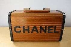 Find authentic vintage designer clothing by Hermes, Chanel, Gucci, Versace and more. Buy authentic vintage handbags and fashion from the and beyond Chanel Luggage, Wooden Bag, Vintage Designer Clothing, Cool Inventions, Beige, Black Quilt, Vintage Handbags, Chanel Handbags, Vintage Chanel