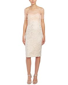 I never did this when I was young, but lately I have been collecting wedding dress ideas.Badgley Mischka Cocktail Dress