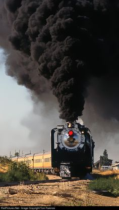 Smoke & Steam ~ Classic Look ~ RailPictures.Net Photo: UP 8444 Union Pacific Steam at Kersey, Colorado by Tom Farence ~ BFD Train Tracks, Train Rides, Trains For Sale, Union Pacific Railroad, Train Pictures, Old Trains, Hobby Trains, Train Engines, Model Train Layouts