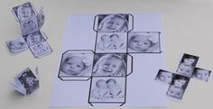 printable template - photoshop tute and how to make these photo cubes! Love!! So much easier than the wooden ones!