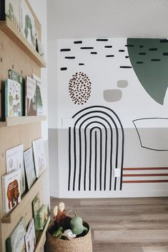 Playroom Mural, Playroom Paint Colors, Kids Wall Murals, Kids Room Paint, Mural Wall, Wall Art, Woodland Nursery Decor, New Room, Kids Bedroom