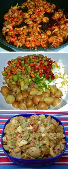 Creole Crawfish Potato Salad | A mouth-watering potato salad recipe. Perfect party food for the Fourth!