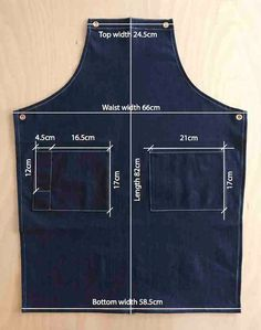 Diy Jeans, Sewing Aprons, Sewing Clothes, Denim Aprons, Jean Diy, Jean Apron, Barber Apron, Shop Apron, Work Aprons