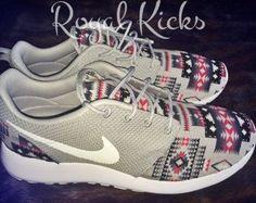 Tribal Aztec Nike Roshe Run Custom Sneakers by KickDynasty on Etsy