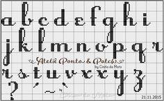 Ateliê Ponto & Patch: Gráficos de Monogramas em Ponto Cruz