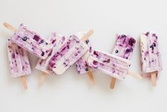 Roasted berry and honey yogurt popsicles from @Kathryne (Cookie + Kate)