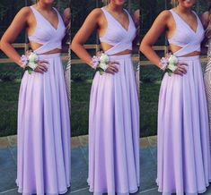 Beautiful Prom Dress, two piece prom dress long chiffon prom dress long formal gowns for teens lavender prom dress a line long sexy women formal gowns long party dress Meet Dresses Lavender Prom Dresses, Elegant Bridesmaid Dresses, Prom Dresses Two Piece, Prom Dresses 2018, Beautiful Prom Dresses, Pretty Dresses, Light Purple Prom Dress, Chiffon Prom Dresses, Purple Prom Dresses