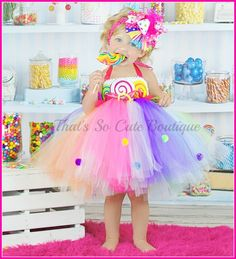 Cute Birthday Tutu Dresses | Lollipop Tutu Dress, Candy Land Tutu Dress, 1st Birthday Tutu Dress ...