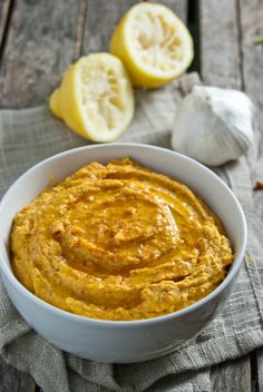 Sweet and Smokey Carrot Cumin Hummus.