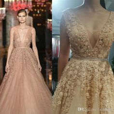 Elie Saab Evening Dresses Wear Sexy Tulle Backless Evening Gowns Beaded Tiered… Backless Evening Gowns, Evening Dresses Plus Size, Backless Prom Dresses, Tulle Prom Dress, Plus Size Dresses, Elie Saab Dresses, Celebrity Gowns, Party Gowns