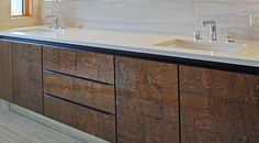 Laminated glass cabinets for bathrooms by nFusionGlass
