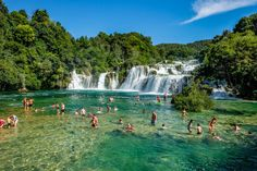Krka National Park is one of Croatia's best known attractions, and the naturally colorful pools here provide a spectacular backdrop to relax with friends and to swim in the pristine waters.  While I was planning my trip to Europe in summer 2014, that included