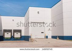 Where is the cargo? Loading docks and shipping receiving department of a industrial area or at departmental store - stock photo