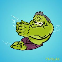 Hulk Twitter Avatar by Ape Lad, via Flickr