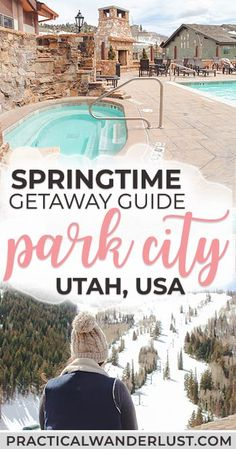 Heading to Park City, Utah this spring? Our giant guide contains everything you need to know about what to do, where to eat, how to get around, where to ski & snowboard, where to chill if you're NOT skiing, and all of the best Park Ciaty, Utah things to do in spring. #Travel #USATravel #Utah