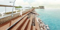 Changing urban landscape at city sea front, Koum Kapi, Chania, GR by DESARCH ARCHITECTS