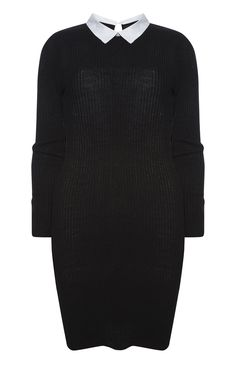 Primark - Black Ribbed Shirt Collar Dress