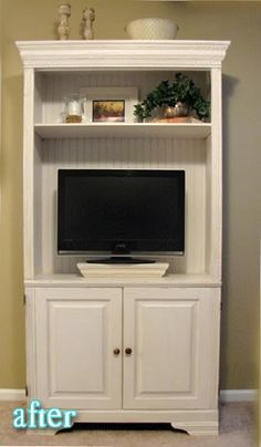 I Turned An Old, Ugly China Cabinet Into An Entertainment Center. |  Interior Inspiration / Living Spaces | Pinterest | China Cabinets,  Entertainment And ...