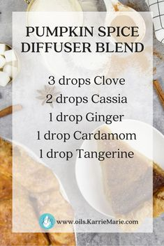 Drop clove, cassia, ginger, cardamom, and tangerine into your diffuser and you have got the instant smell of fall. Essential Oils For Nausea, Essential Oils Guide, Ginger Essential Oil, Essential Oil Uses, Healing Oils, Aromatherapy Oils, Eucalyptus, Essential Oil Diffuser Blends, Diffuser Recipes
