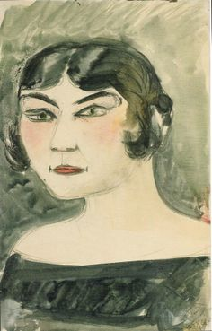 Otto Dix, Kopf (Mutzli Koch) [Head (Mutzli Koch)], 1922