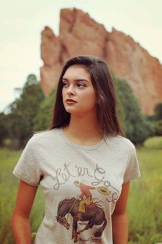 Let'er Go Tee Missy Tee by Original Cowgirl Clothing