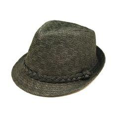 Amazon.com: Classic Fedora Straw Hat with Braided Band, Black: Clothing