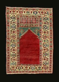 This is an 18th century Ladik rug from Anatolia.