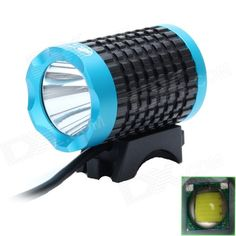 ZHISHUNJIA 810lm 6-Mode White Light LED USB Bike Lamp / Headlamp - Black + Blue Light Led, White Light, Usb, Bike, My Favorite Things, Black, Bicycle, Black People, Trial Bike