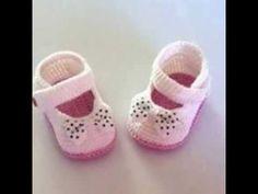 Como tejer a crochet ballerinas, zapatitos para bebes (1/2) - YouTube