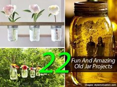 22 Fun And Amazing DIY Projects From Old Jars -