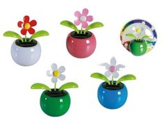 Home House Car Flowerpot Solar Power.Flip Flap Flower Plant Swing Auto Dance FL