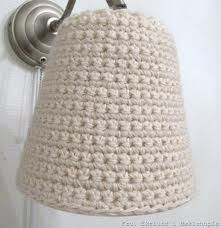 Knitted lampshade