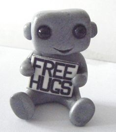 Free Hugs Robot from Etsy