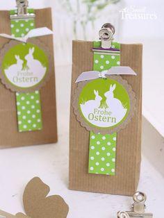 Heute hab ich ein paar erste Ideen für Ostern für euch zusammengestellt aus naturbraunem Kraftpapier und hellem Grün. Entstanden ist ein...